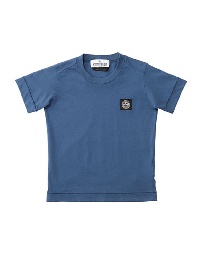 Boy's Short-Sleeve Logo Patch Tee, Size 2-6