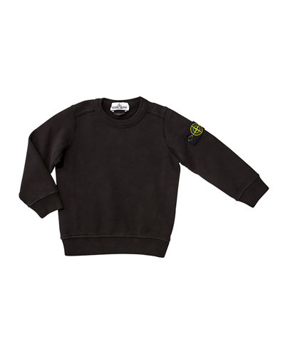 Cotton Sweatshirt w/ Logo Tab on Sleeve  Size 2-6