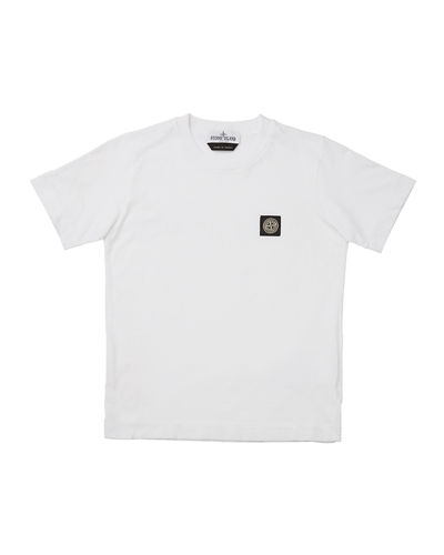 Boy's Short-Sleeve Logo Patch Tee, Size 12