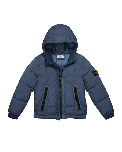 Down Puffer Jacket with Hood, Size 8-10