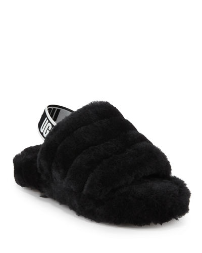 Fluff Yeah Shearling Sandal Slippers, Kids