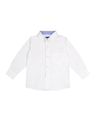 Button-Down Cotton Shirt  Size 8-14