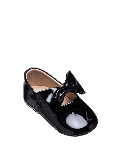 Leather Ballet Flat w/ Bow, Baby