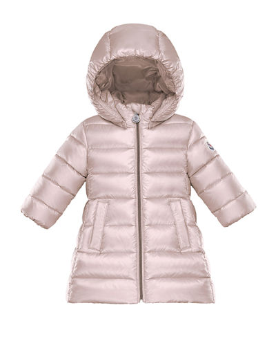 Long Hooded Puffer Coat, Size 12M-3