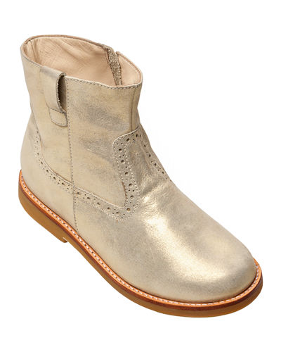 Madison Metallic Leather Ankle Boots, Baby/Toddler/Kids
