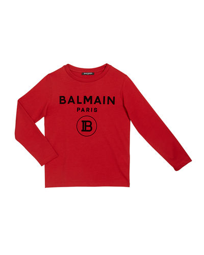 Kid's Long-Sleeve Logo T-Shirt, Size 4-10