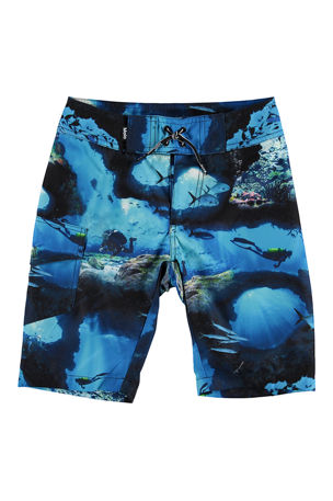 Molo Boy's Nalvaro Wind Surfer Print Board Shorts, Size 2T-12