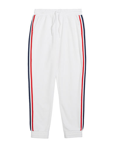 Kid's Lucas French Terry Sweatpants w/ Side Taping, Size 6-14