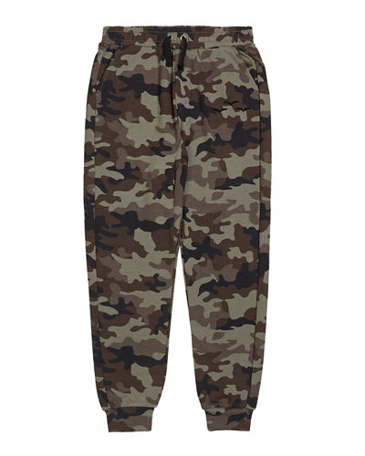 Kid's Riley Camo French Terry Sweatpants, Size 6-14