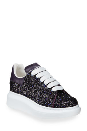 Alexander McQueen Allover Glitter Lace-Up Sneakers, Toddler/Kids