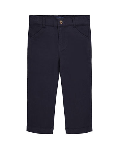 Boy's Straight Leg Twill Pants, Size 3-24 Months