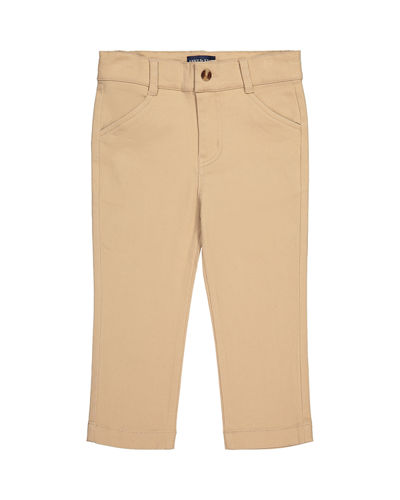 Boy's Straight Leg Twill Pants, Size 2-14