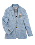 Appaman Boys' Linen-Blend Sports Jacket, Size 2-14
