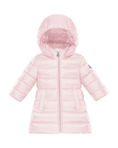 Majeure Quilted Puffer Hooded Long Coat, Size 12M-3