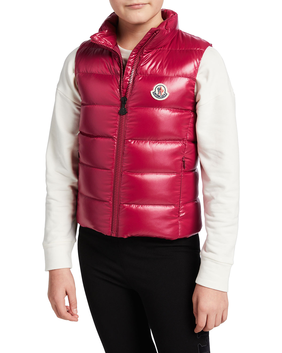 Moncler KID'S GHANY LAQUE QUILTED PUFFER VEST