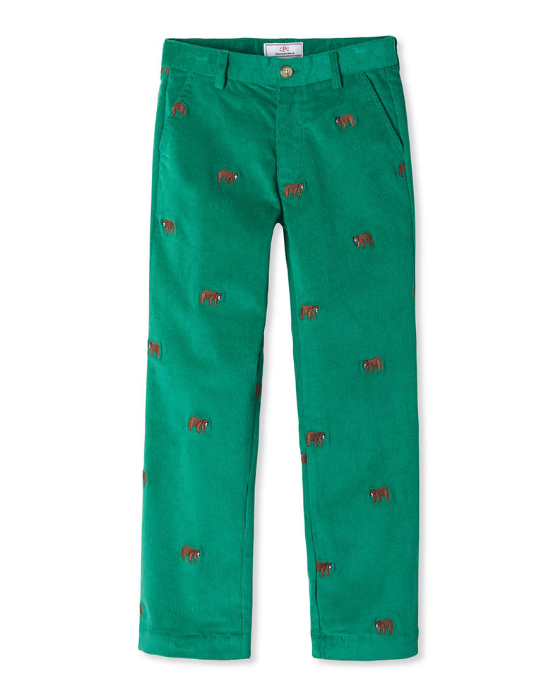 Classic Prep Childrenswear Boy's Gavin Embroidered Corduroy Pants, Size 4-12