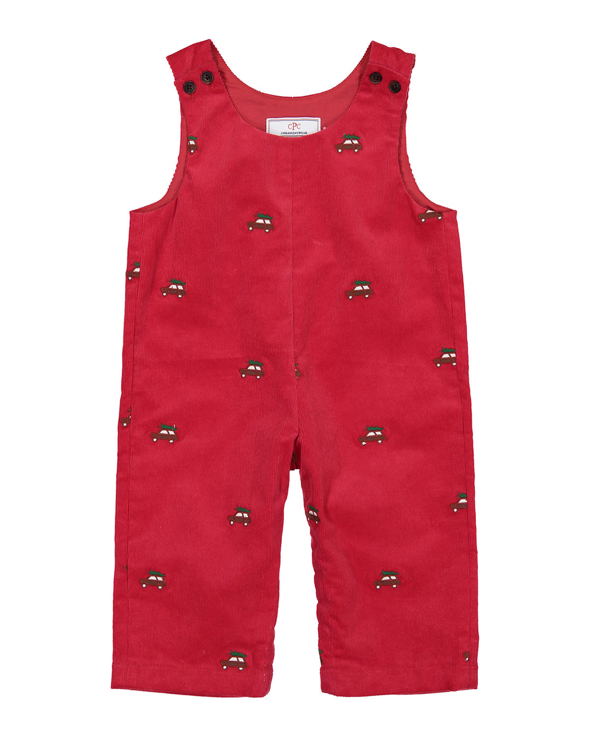 Boy's Tucker Embroidered Overalls