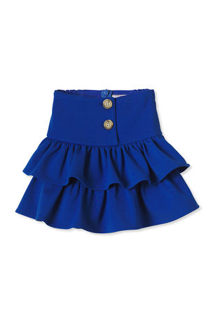 Classic Prep Childrenswear Girl's Kiki Tiered Ruffle Ponte Skirt, Size 2-14