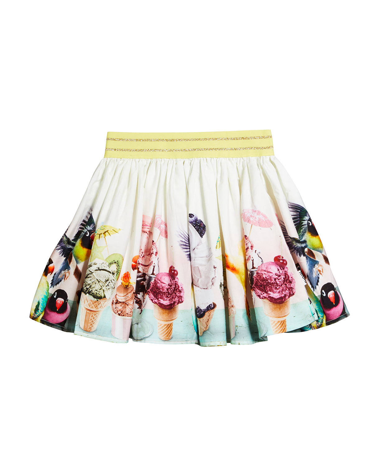 Molo GIRL'S BRENDA FLORAL-PRINT COTTON SKIRT