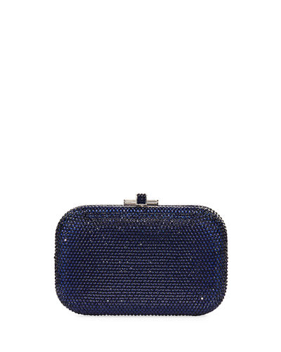 Judith Leiber Couture Crystal Slide-Lock Clutch Bag