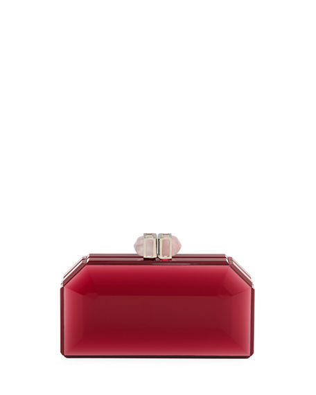 Image 1 of 3: Judith Leiber Couture Faceted Box Clutch Bag