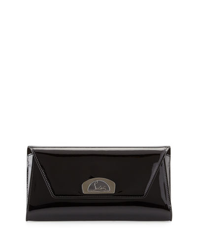 Vero Dodat Flap Patent Clutch Bag