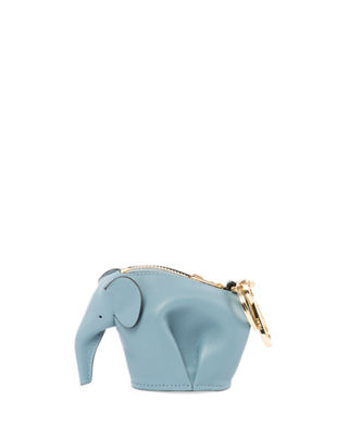 Elephant Blue Leather Cross-Body Bag