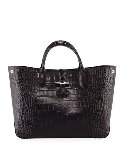 Roseau Croco Medium Tote Bag