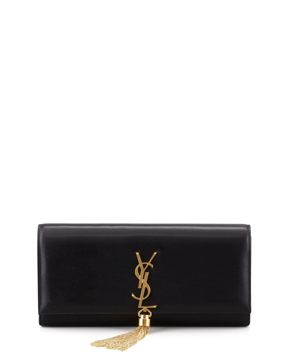 f9d392c4b3 Saint Laurent Kate Monogram YSL Full-Flap Clutch Bag