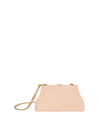 Mansur Gavriel Mini Volume Suede Clutch Bag