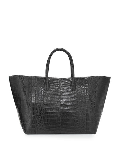 Custom Crocodile Large Convertible Tote Bag