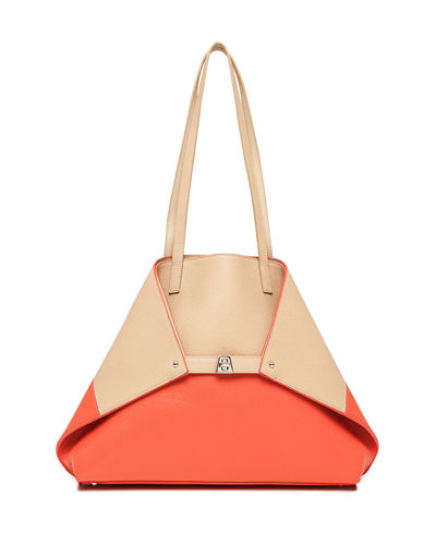 Akris Ai Medium Reversible Colorblock Tote Bag