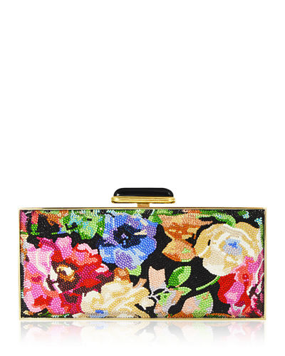 Watercolor Crystal Large Rectangle Clutch Bag