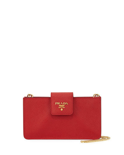 Saffiano Phone Crossbody Bag
