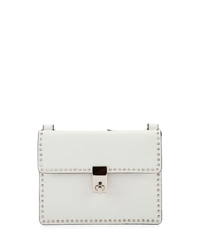 Rockstud Flap Leather Crossbody Bag