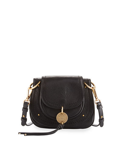 Small Leather Flap Saddle Bag