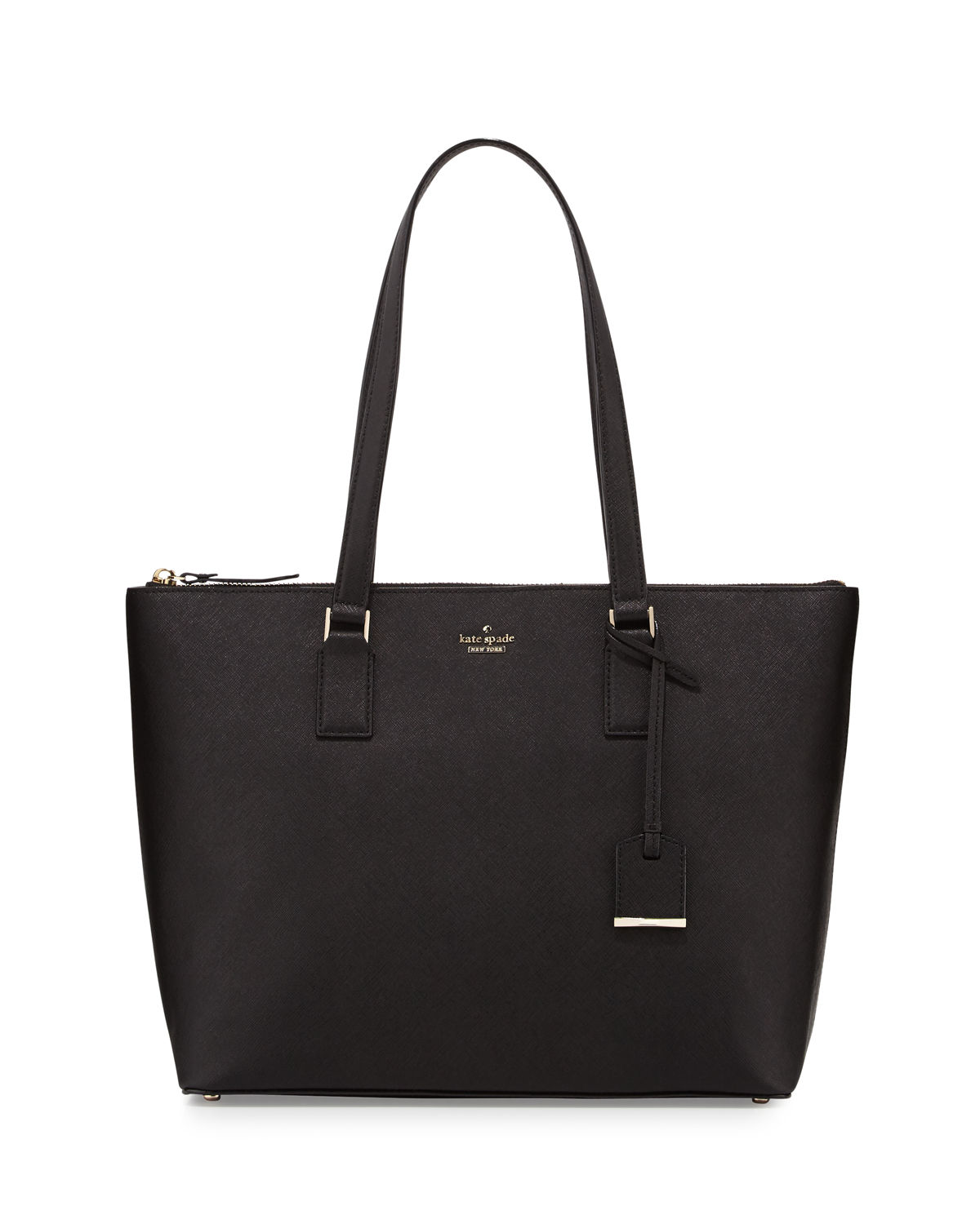 cameron street lucie leather tote bag, black