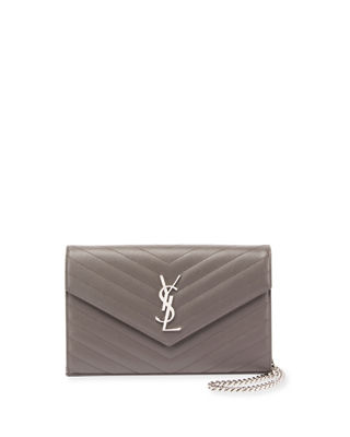 Saint Laurent Monogram YSL Large V-Flap Grain de