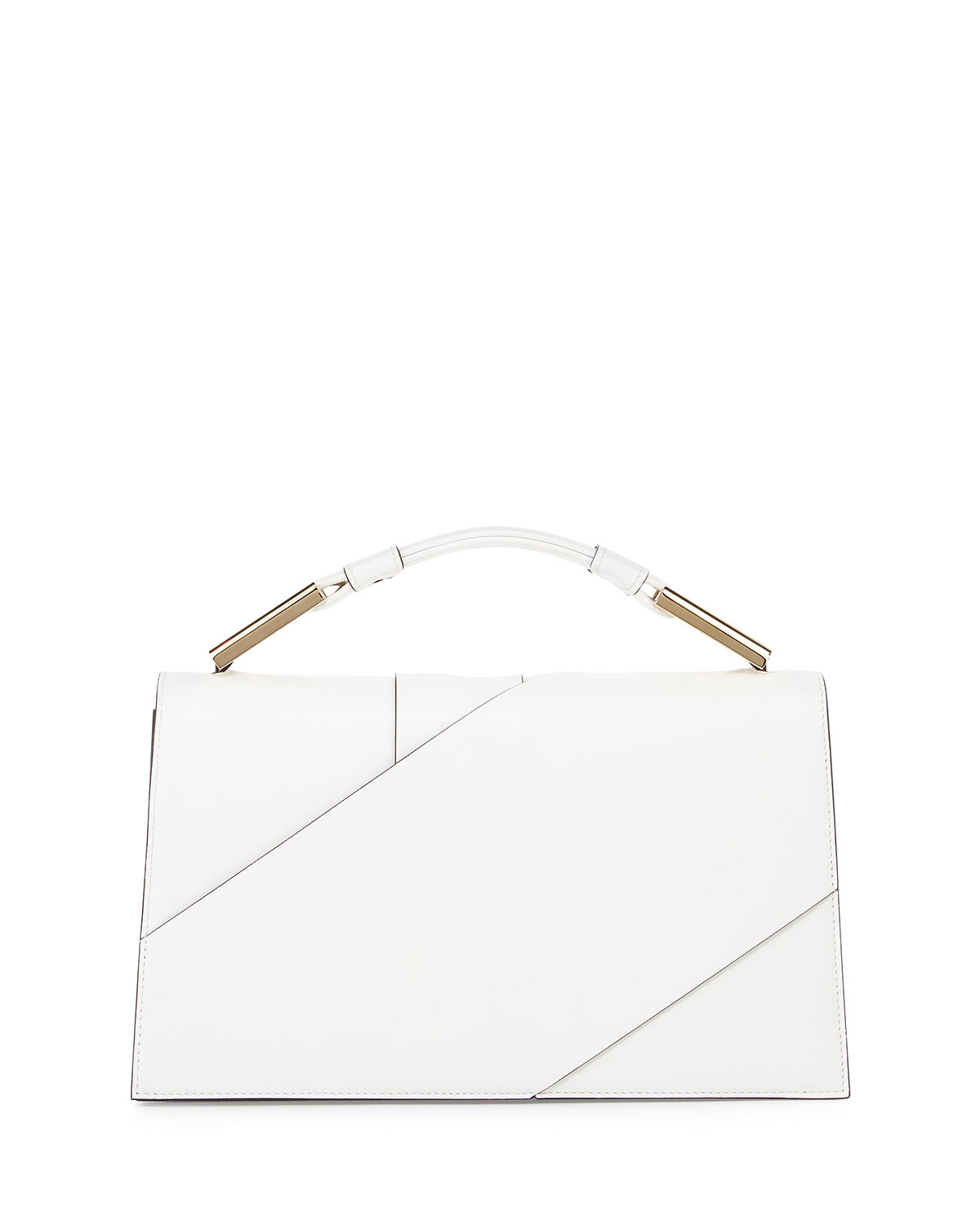 Charlotte Origami Leather Evening Clutch Bag