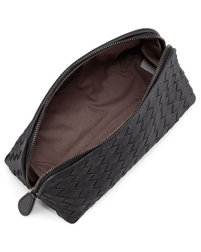 Bottega Veneta Woven Leather Medium Cosmetics Case