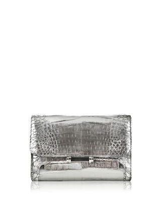 Judith Leiber Couture Sloane Crocodile Clutch Bag