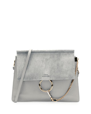 Chloe Faye Medium Leather & Suede Shoulder Bag