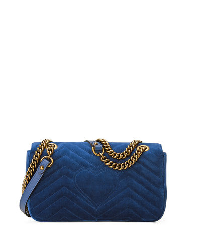 GG Marmont Small Quilted Velvet Crossbody Bag
