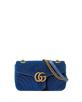 Gucci GG Marmont Small Quilted Velvet Crossbody Bag 0tCsi