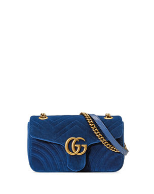 ab8b4968ff Gucci GG Marmont Small Quilted Velvet Crossbody Bag