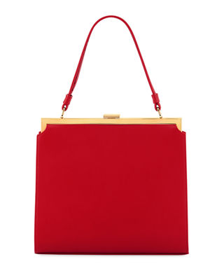 Image 1 of 3: Elegant Leather Top-Handle Bag