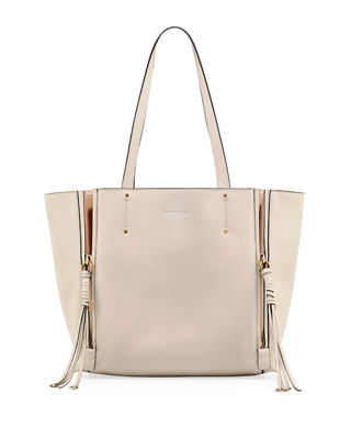 Image 1 of 2: Milo Medium Leather & Suede Tote Bag