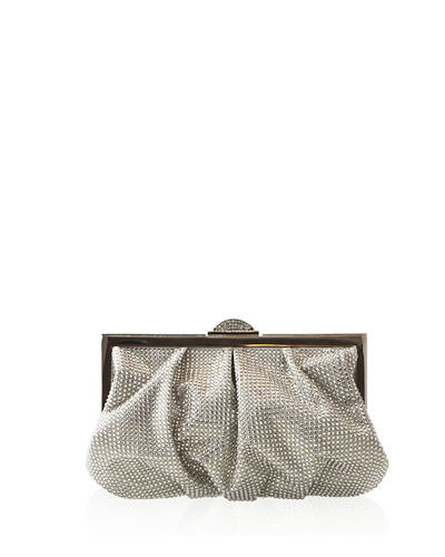 Natalie Full-Bead Foiled Clutch Bag