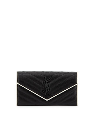 Saint Laurent Monogram Leather Small Flap Continental Wallet
