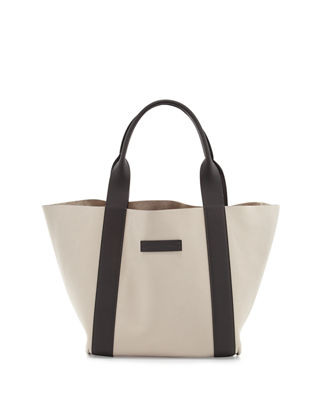 Image 1 of 3: Reversible Small Nubuck Tote Bag